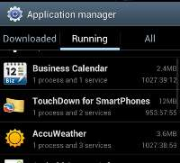 Application Manager Galaxy S3