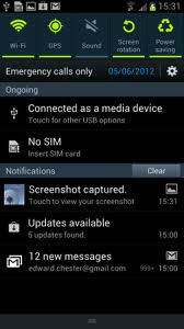 Notification Screen Galaxy S3